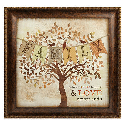 Family Tree Banner Framed Art Print