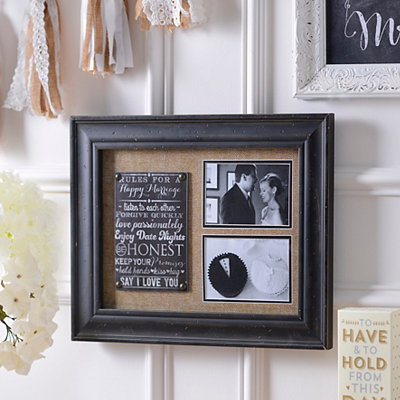 Rules for a Happy Marriage Collage Frame