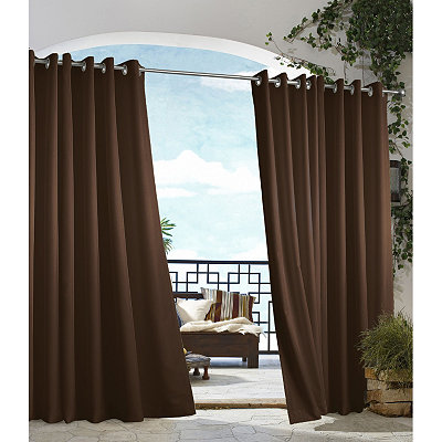 Brown Outdoor Curtain Panel, 96 in.