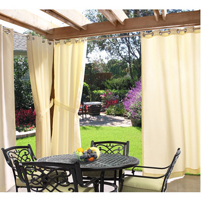 Natural Outdoor Curtain Panel, 96 in.