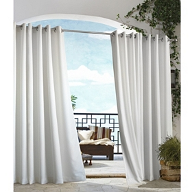 White Outdoor Curtain Panel, 84 in.