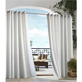 White Outdoor Curtain Panel, 96 in.