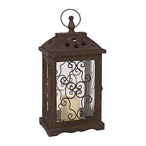 Antique Brown Wood Lantern