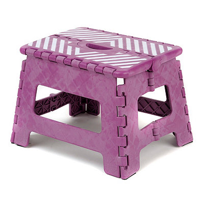 Purple Stripe Step Stool