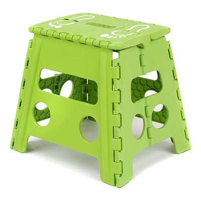 Lime Green Footprint Step Stool