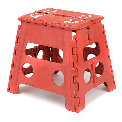 Red Footprint Step Stool