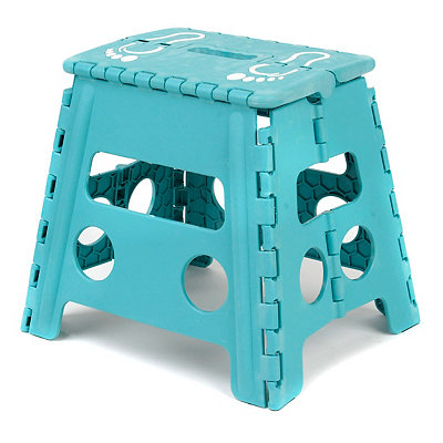 Turquoise Footprint Step Stool