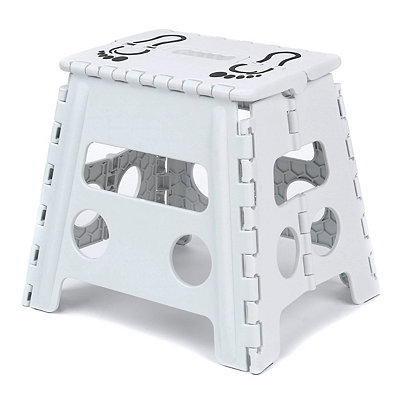 White Footprint Step Stool