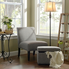 Charcoal Gray Accent Furniture Set