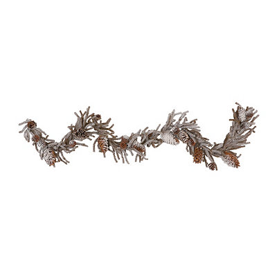 Winter White Pine Cone Garland