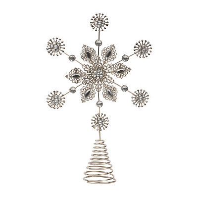 Metal Snowflake Tree Topper