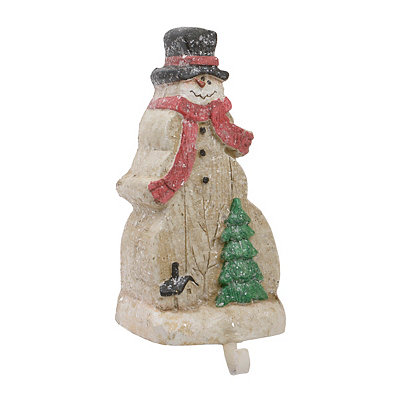 Rustic Snowman Stocking Holder