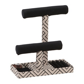 Black T-Bar Jewelry Display Stand