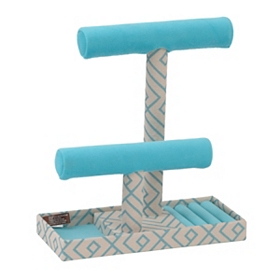 Turquoise T-Bar Jewelry Display Stand