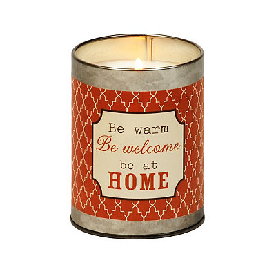 Be Welcome at Home Tin Candle