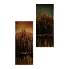 Blue & Amber Repose Canvas Art Prints, Set of 2
