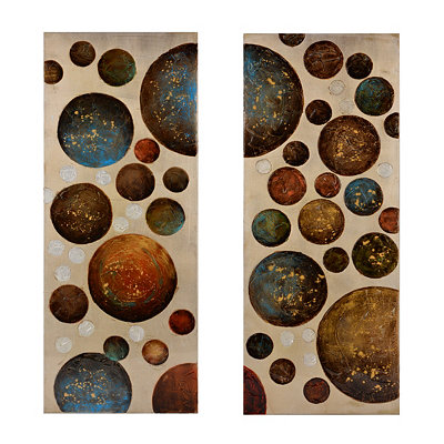 Twin Circles Canvas Art Prints, Set of 2