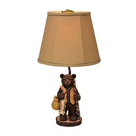 Gone Fishing Bear Table Lamp