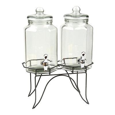 Hexagonal Beverage Dispensers, Set of 2