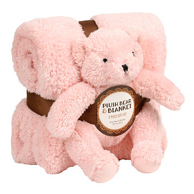 Pink Bear & Blanket Gift Set