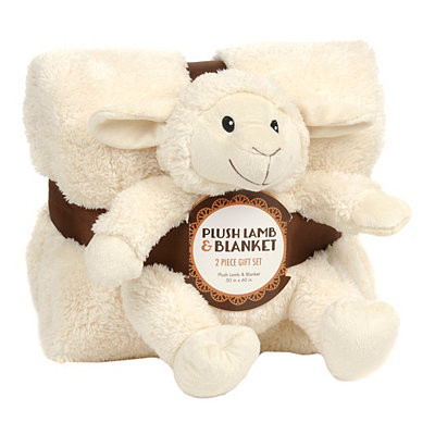 Cream Lamb & Blanket Gift Set