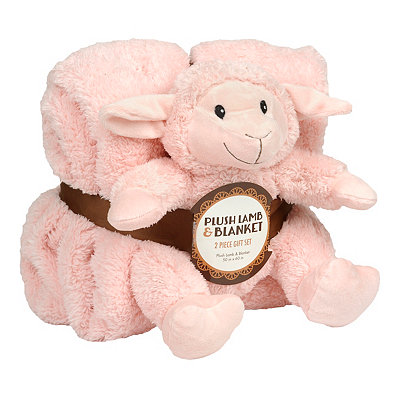 Pink Lamb & Blanket Gift Set