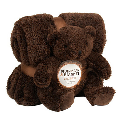 Chocolate Bear & Blanket Gift Set