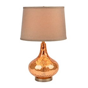 Jolie Brown Glass Table Lamp