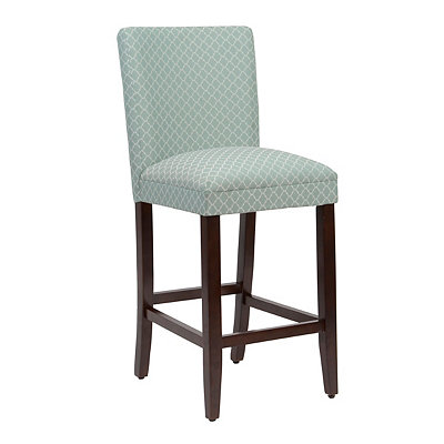 Sea Glass Quatrefoil Bar Stool