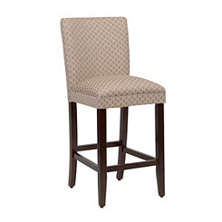 Tan Quatrefoil Bar Stool