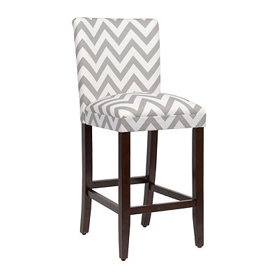 Gray Chevron Bar Stool