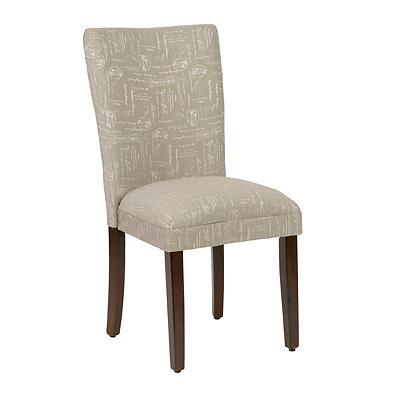 Gray Script Parsons Chair