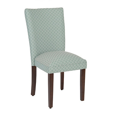 Sea Glass Quatrefoil Parsons Chair