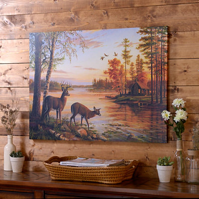Deer Guest Canvas Art Print