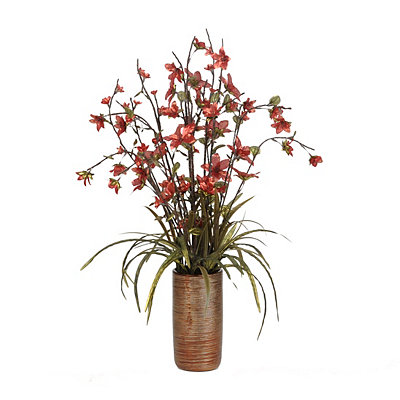 Red Metallic Blossom Arrangement