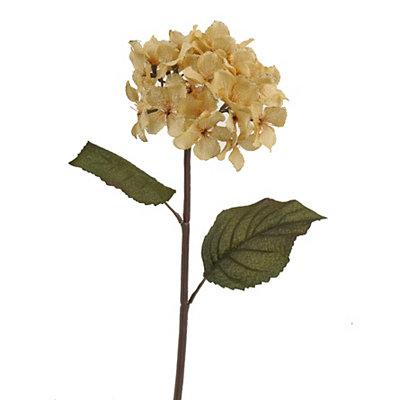 Cream Burlap Hydrangea Stem