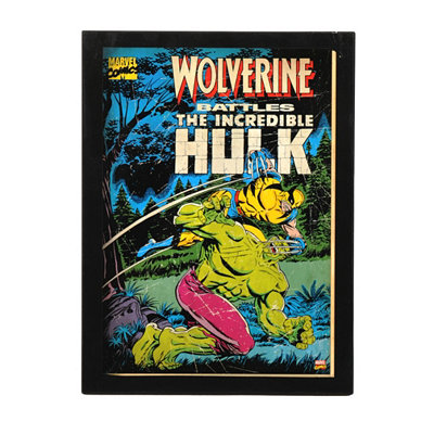 Wolverine Battles Hulk Comic Book Plaque