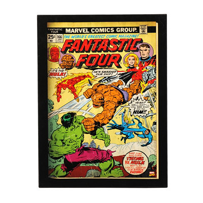 Fantastic Four Comic Book Plaque