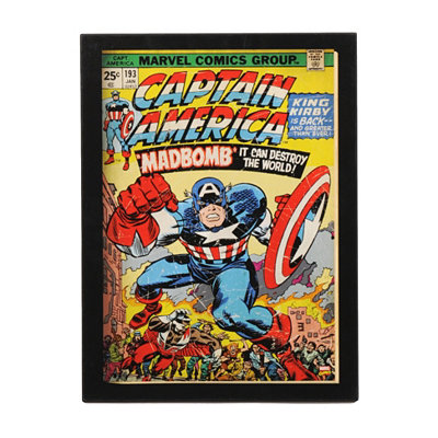 Captain America Madbomb Comic Book Plaque