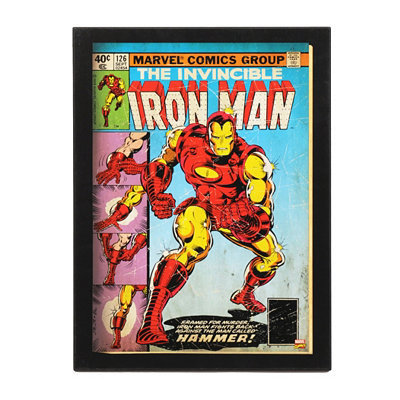 The Invincible Iron Man Comic Book Plaque