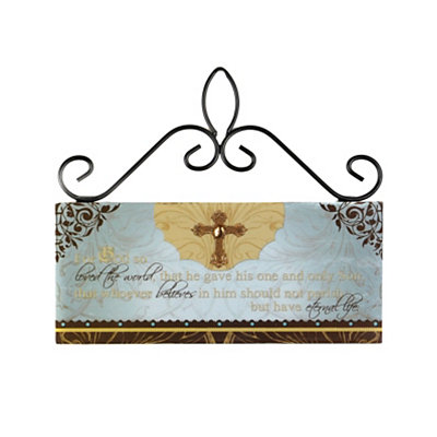 Eternal Life Wooden Sign