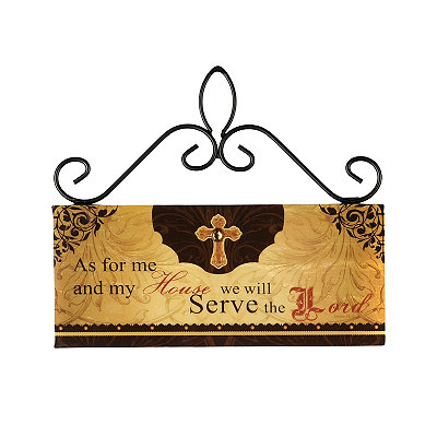 Serve the Lord Wooden Sign