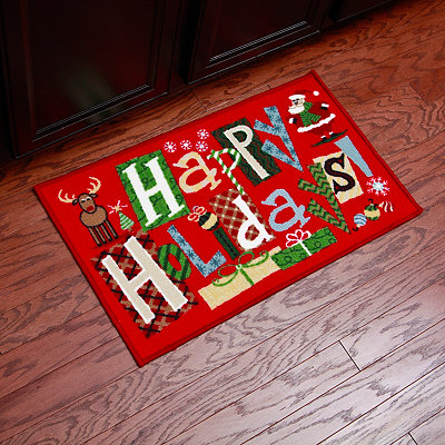 Happy Holidays Scatter Rug