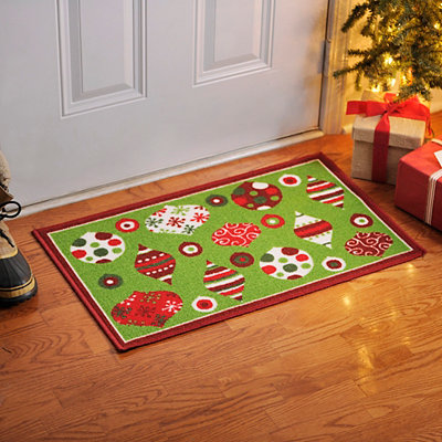 Christmas Ornaments Scatter Rug