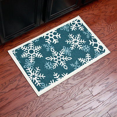 Snowflakes Scatter Rug