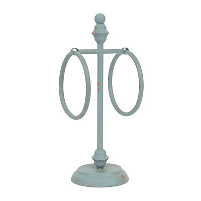 Blue Tracie Counter Towel Holder