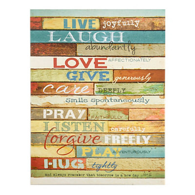 Live Joyfully Canvas Plaque