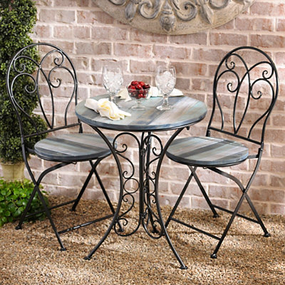 Distressed Blue 3-pc. Bistro Set