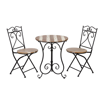 Distressed White 3-pc Bistro Set