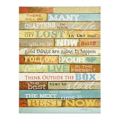 Life's Chapters Wooden Plaque